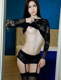 Staffie bare in erotic STOCKINGS gallery - MetArt.com