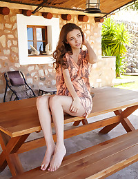 Mila Azul nude in erotic PICNIC TABLE gallery - MetArt.com