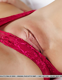 Violette Pink nude in erotic Pink gallery