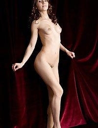 Glamour introducing of youthfull and new maiden baring lush, indiscriminate assets.