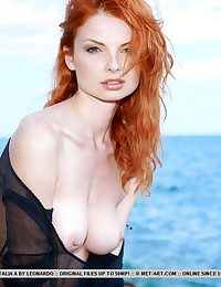 Naturally excellent redhead with delectable slightly satisfactory flesh lose one's teach of thought matches her curly red mane, Natalia is an outstanding flash of ravishing, foreigner beauty, bare in a rugged beach location.